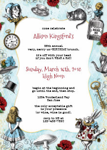 Mad Hatter Tea Party Invitations Announcements Zazzle Uk