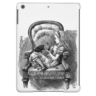 Vintage Alice in Wonderland book drawing emo goth iPad Air Cases