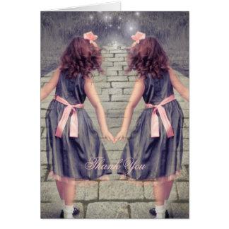 vintage Alice in wonderland Bridal shower thankyou Cards