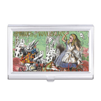 Vintage Alice in Wonderland Cards Tea party Business Card Holder