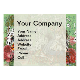 Vintage Alice in Wonderland Cards Tea party Pack Of Chubby Business Cards