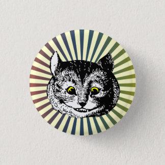 Vintage Alice in Wonderland Cheshire Cat Art Badge