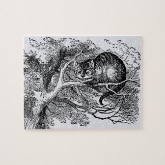 Vintage Alice in Wonderland, Cheshire Cat Jigsaw Puzzle