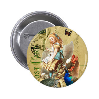Vintage Alice in Wonderland collage 6 Cm Round Badge