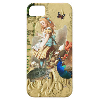 Vintage Alice in Wonderland collage Case For The iPhone 5