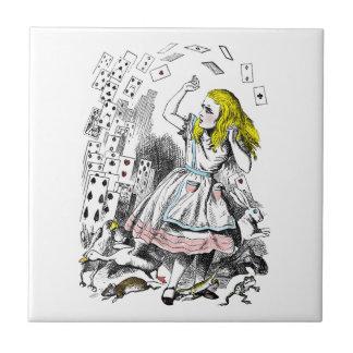 Vintage Alice in Wonderland Deck of Cards Small Square Tile