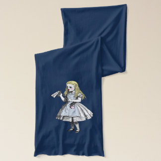 Vintage Alice in Wonderland Drink Me Cards Scarf