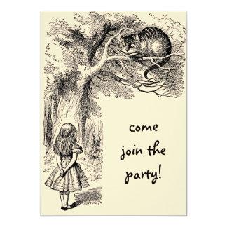 Vintage Alice in Wonderland, Girl Birthday 13 Cm X 18 Cm Invitation Card