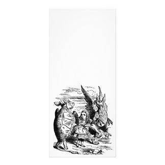 Vintage Alice in Wonderland, Gryphon, Mock Turtle Full Color Rack Card