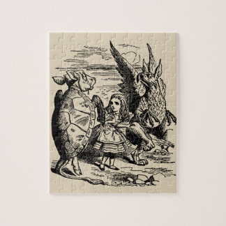 Vintage Alice in Wonderland, Gryphon, Mock Turtle Jigsaw Puzzle