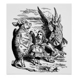 Vintage Alice in Wonderland, Gryphon, Mock Turtle Poster
