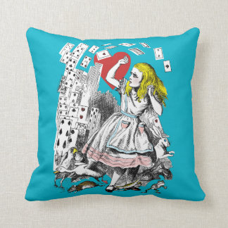 Vintage Alice in Wonderland Heart Cards Cushion Pillow