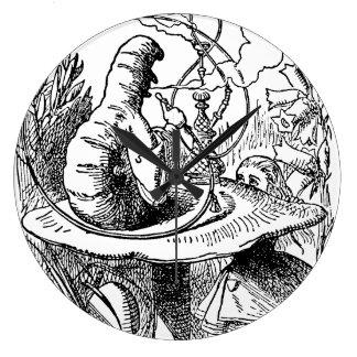 Vintage Alice in Wonderland Hookah Caterpillar Large Clock