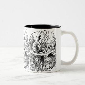 Vintage Alice in Wonderland Hookah Caterpillar Two-Tone Coffee Mug