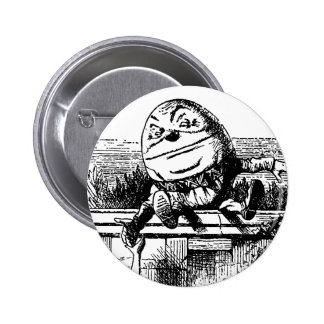 Vintage Alice in Wonderland, Humpty Dumpty on Wall 6 Cm Round Badge