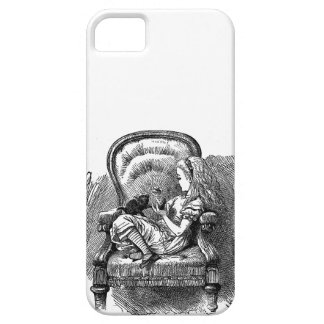 Vintage Alice in Wonderland in chair book drawing Case For The iPhone 5