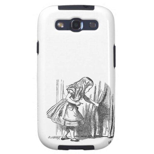Vintage Alice in Wonderland looking for the door Samsung Galaxy S3 Covers