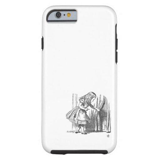 Vintage Alice in Wonderland looking for the door iPhone 6 Case