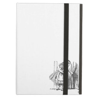 Vintage Alice in Wonderland looking for the door iPad Air Cover