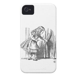 Vintage Alice in Wonderland looking for the door iPhone 4 Case-Mate Cases
