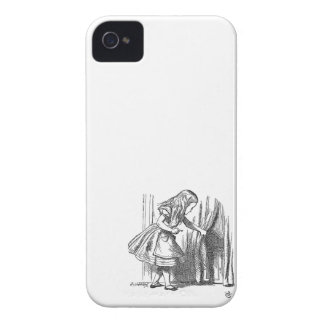 Vintage Alice in Wonderland looking for the door iPhone 4 Cover