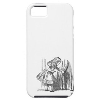 Vintage Alice in Wonderland looking for the door iPhone 5 Cases