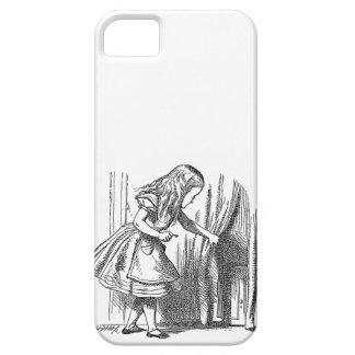 Vintage Alice in Wonderland looking for the door iPhone 5 Cover