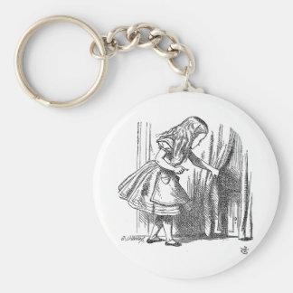 Vintage Alice in Wonderland looking for the door Key Ring
