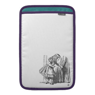 Vintage Alice in Wonderland looking for the door MacBook Sleeve