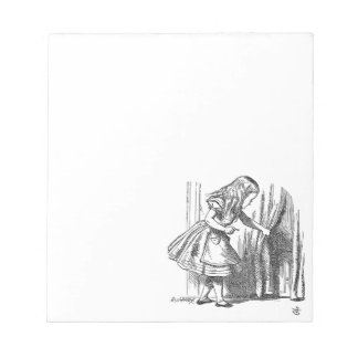 Vintage Alice in Wonderland looking for the door Notepads