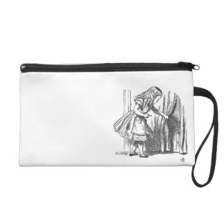 Vintage Alice in Wonderland looking for the door Wristlet