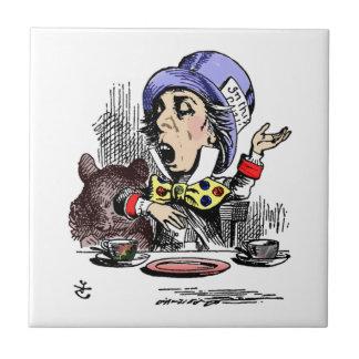 Vintage Alice in Wonderland Mad Hatter Dormouse Tile