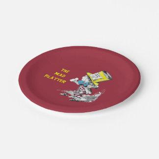 Vintage Alice in Wonderland Mad Hatter Plate 7 Inch Paper Plate