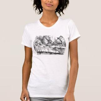 Vintage Alice in Wonderland Mad Hatter rabbit tea T-Shirt