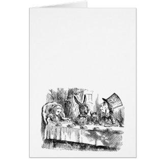 Vintage Alice in Wonderland Mad Hatter tea party Greeting Card