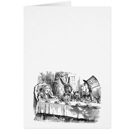 Vintage Alice in Wonderland Mad Hatter tea party Card