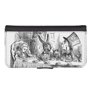 Vintage Alice in Wonderland Mad Hatter tea party iPhone SE/5/5s Wallet Case