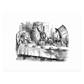 Vintage Alice in Wonderland Mad Hatter tea party Postcard