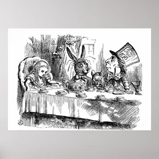 Vintage Alice in Wonderland Mad Hatter tea party
