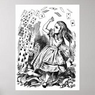 Vintage Alice in Wonderland Pack of cards Poster