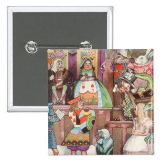 Vintage Alice in Wonderland, Queen of Hearts 15 Cm Square Badge