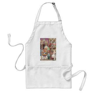 Vintage Alice in Wonderland, Queen of Hearts Apron