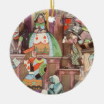 Vintage Alice in Wonderland, Queen of Hearts Ornaments