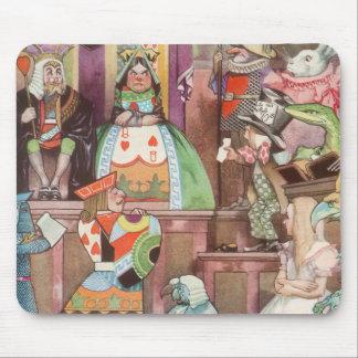 Vintage Alice in Wonderland, Queen of Hearts Mousepad