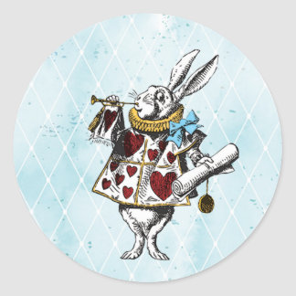 Vintage Alice in Wonderland Rabbit Round Sticker