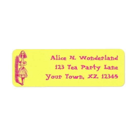 Vintage Alice in Wonderland Return Address Label