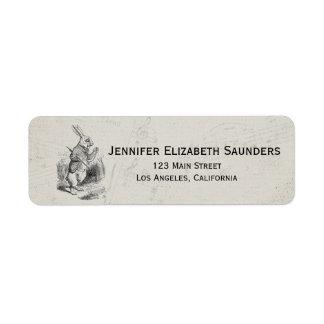Vintage Alice in Wonderland Return Address Labels