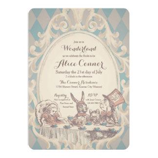 Vintage Alice in Wonderland Shower Invitations