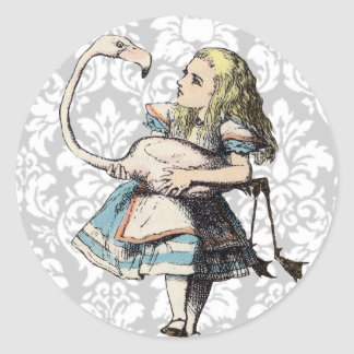 Vintage Alice In Wonderland STICKER