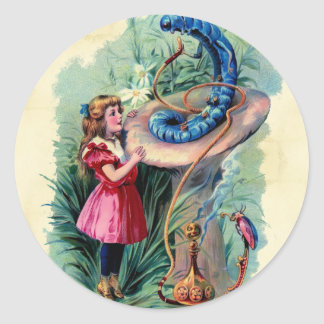 Vintage Alice In Wonderland Sticker